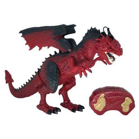 Imagem de Figura Eletrônica - Lendários - Dragão Vermelho - Dragão de Controle Remoto - Candide