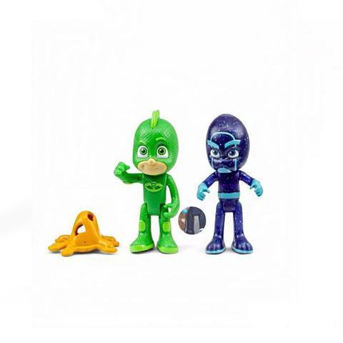 Imagem de Figuras Articuladas com Luzes PJ Masks Lagartixo e Ninja Noturno 4384 DTC