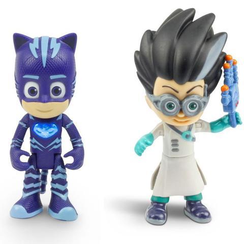 Imagem de Figuras Articuladas com Luzes PJ Masks Menino Gato e Romeo 4384 DTC