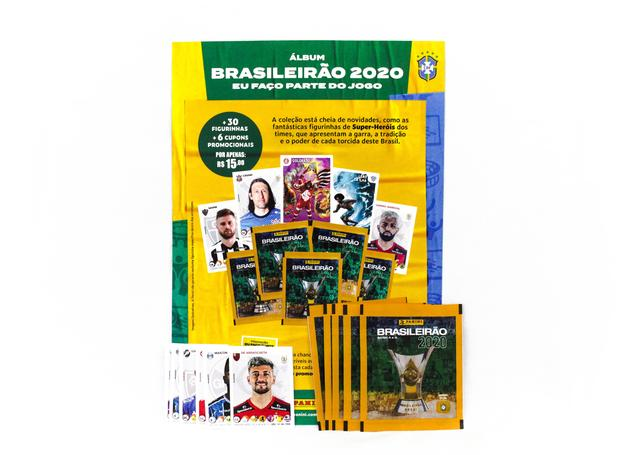 Imagem de Figurinhas Colecionáveis - Campeonato Brasileiro - 6 Envelopes - Panini