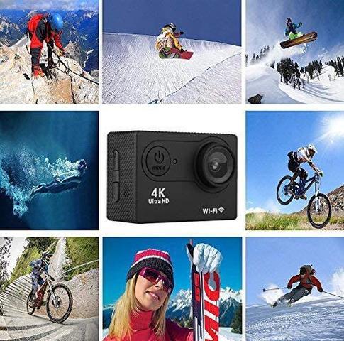 Imagem de Filmadora 4k Sports HD Prova Dágua Wi-Fi Moto Mergulho Capacete Skate Surf