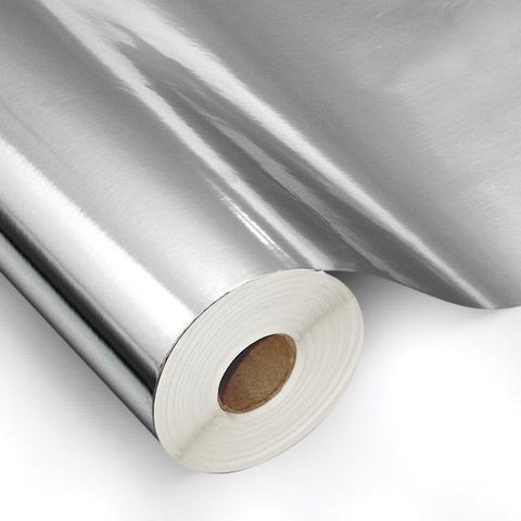 Imagem de Filme poliéster prata para impressão digital solvente e eco solvente bobina de 100 cm x 25 metros