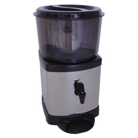 Imagem de Filtro Agua Purificador Inox Base de Barro Preto Com Vela E Bóia