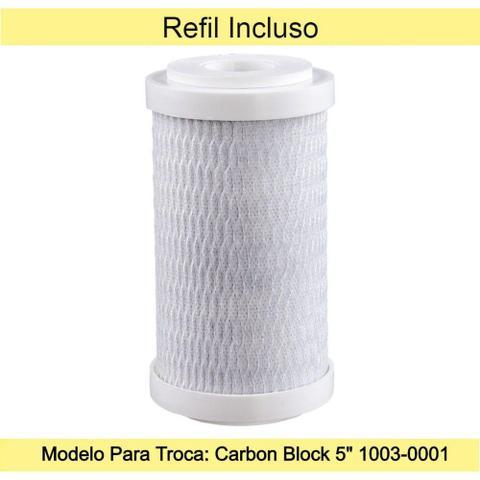 """Imagem de Filtro Com Torneira Acqua 5"""" Para Parede Com Refil Incluso  1000-0010 - Acquabios"""
