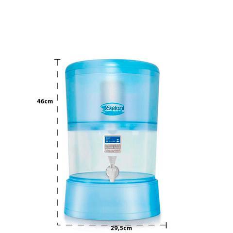Imagem de Filtro de Água Cristal Stéfani com 2 Velas Tripla Ação e Boia 8 Litros