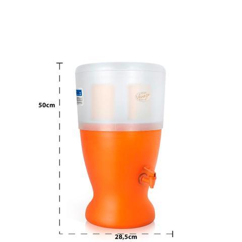 Imagem de Filtro de Água de Barro Veneza São João com 2 Velas Declorantes e Boia - 8 Litros