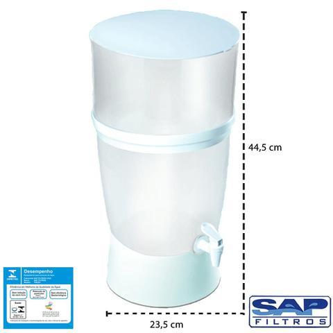 Imagem de Filtro de Água de Plástico Branco Seleto 10 Litros Sap Filtros