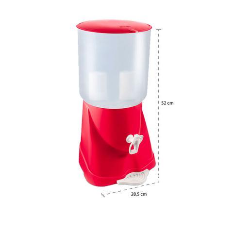 Imagem de Filtro de Água de Plástico Max Fresh Vermelho Sap Filtros - 2 Velas