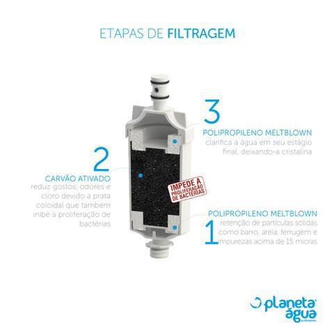 Imagem de Filtro de Água Ideale Eco Bancada Cromado Planeta Água
