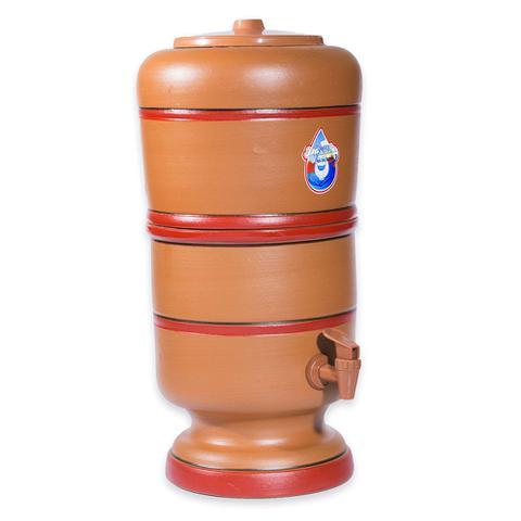 Imagem de Filtro de Barro 9 Litros Com 1 Vela Carvão Ativado e 1 Boia