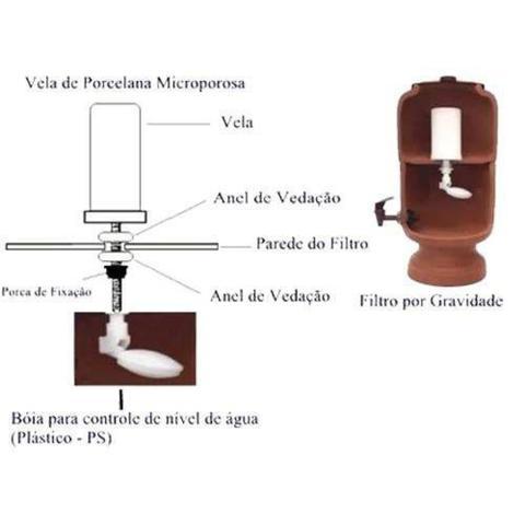 Imagem de Filtro De Barro Para Água São João Classic 5 Lts 1 Vela Tropla Ação 1 Boia