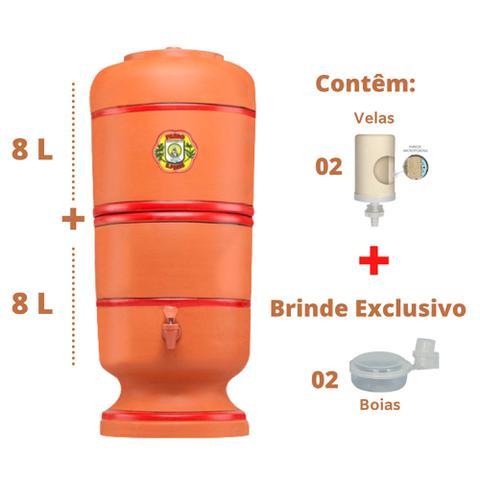 Imagem de Filtro de Barro para água São Pedro 8 Litros com 2 Velas e 2 Boias