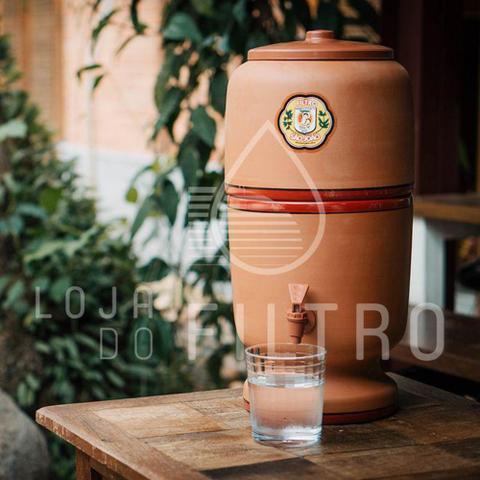 Imagem de Filtro De Barro purificador de água Stéfani São João 4 Litros - 1 Vela Tradicional  1 Boia
