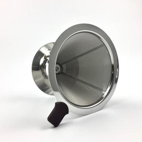 Imagem de Filtro de Café Aço Coador Inox Reutilizável Permanente Ecológico Pequeno