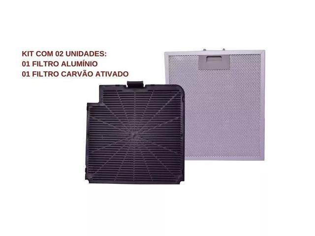 Imagem de Filtro de Carvão Ativado + Tela Filtrante p/ Coifa Fogatti Slim ( Modelo Novo )