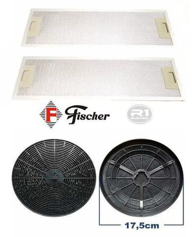 Imagem de Filtro de Carvão Ativado + Tela Filtrante p/ Depurador Fischer Slim Original