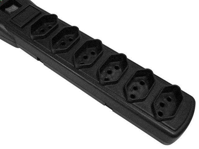 Imagem de Filtro de Linha 6 Tomadas Bivolt Force Line Slim - Com Protetor contra Surtos