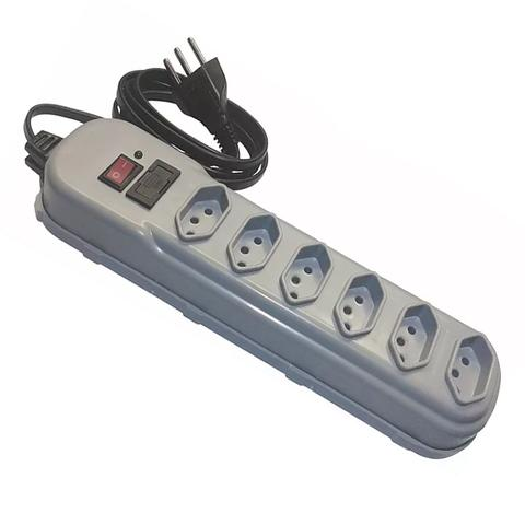 Imagem de Filtro de Linha Protetor Eletrônico Bivolt 6 Tomada 233