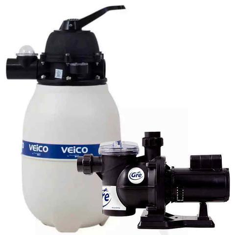 Imagem de Filtro para Piscina até 30.000 Litros com Bomba 1/3 CV c/ Pré-Filtro FLUIDRA