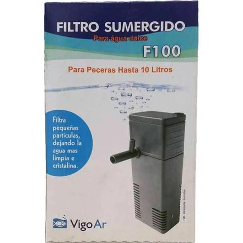 Imagem de Filtro Submerso F100 para Aquários até 20 litros Vigo Ar 127v