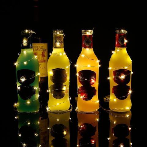 Imagem de Fio Cobre Cordão Luz Fada 2m 20 Leds a Pilhas