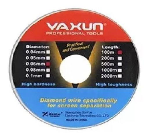 Imagem de Fio De Aço Yaxun 0.04mm 100m Para Separar Tela Lcd