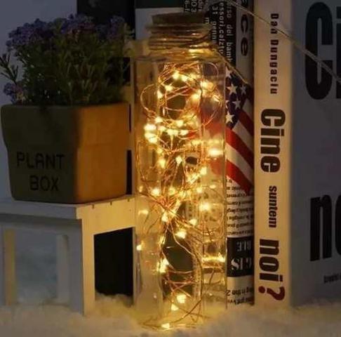 Imagem de Fio De Led 3 Metros Arame Led Decoração Natal Cobre Pilha
