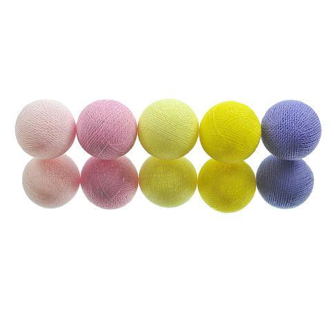 Imagem de Fio de Luz LED CORMILU Amarelo Rosa Alexandria 20 bolas À Pilha