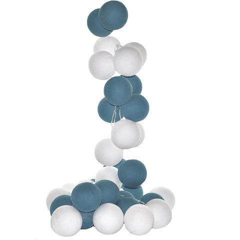 Imagem de Fio de Luz LED CORMILU branco aqua Mendoza 20 bolas À Pilha