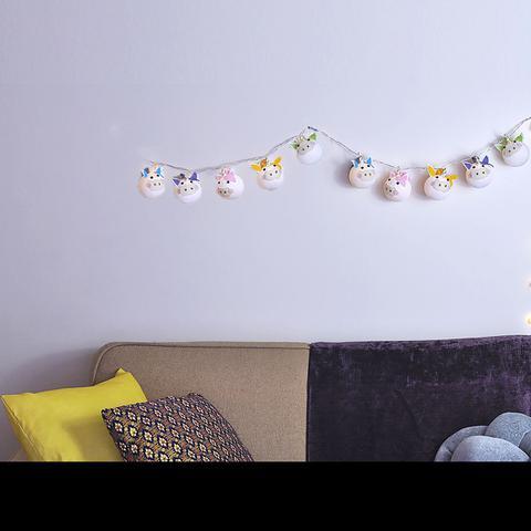 Imagem de Fio de Luz LED CORMILU temático Unicórnio 20 À Pilha