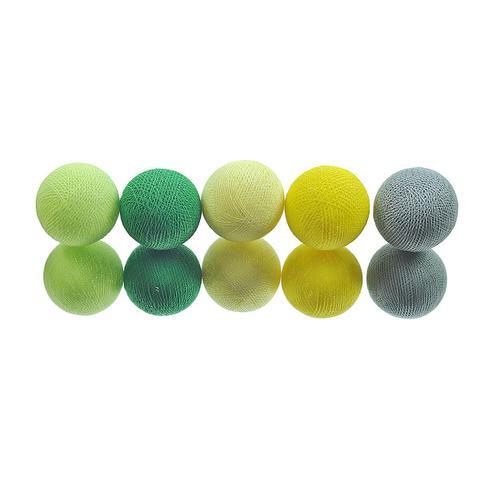 Imagem de Fio de Luz LED CORMILU Verde Amarelo Manaus 20 bolas À Pilha