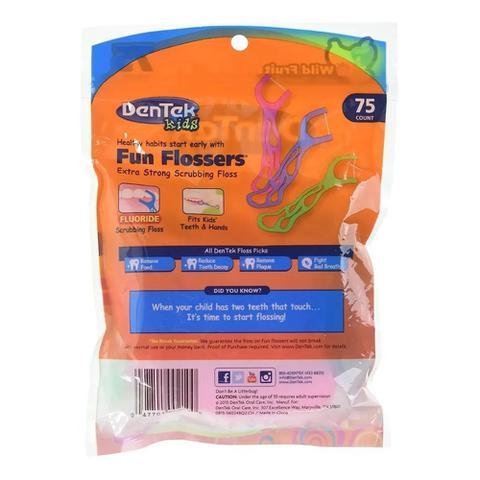 Imagem de Fio Dental Dentek Kids Fun Flossers 75 Unidades pack com 5