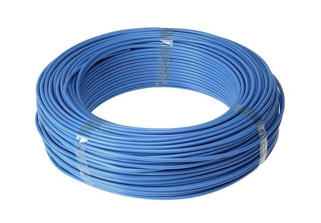 Imagem de Fio Eletrico Flexivel 6mm Azul Rolo Com 100mts Cabo