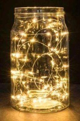 Imagem de Fio Fada Cobre Prata Cordão Luz Amarela  3m 30 Leds Pilha