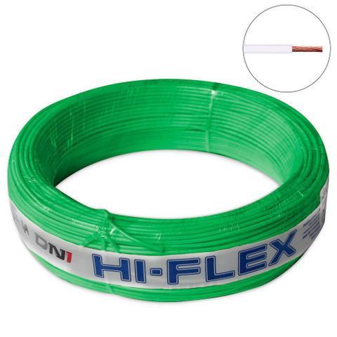 Imagem de Fio Flexível para Instalação Automotiva Dni Hi-Flex 0,75 mm 100 Metros Verde