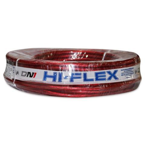 Imagem de Fio Flexível para Sonorização Profissional de Alta Potência Dni Hi-Flex 21 mm 25 Metros Cristal Vermelho