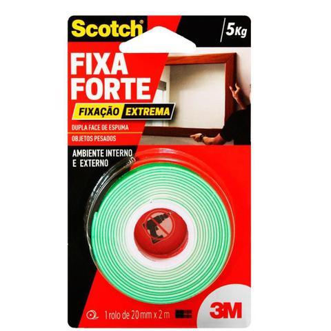 Imagem de Fita 3M Dupla Face Scotch Fixa Forte Fixação Extrema 24mm x 2m