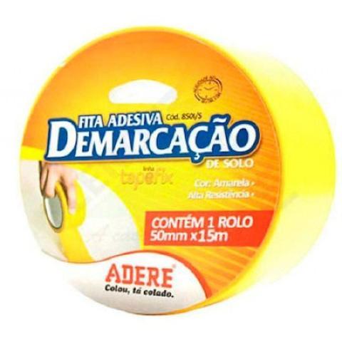 Imagem de Fita Adesiva Demarcação Amarela 50mm x 15m - Adere