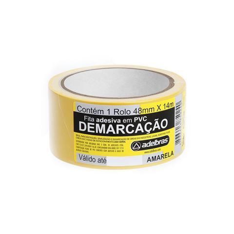 Imagem de Fita Adesiva Demarcação de Solo Adelbras 48mmx14m Amarela