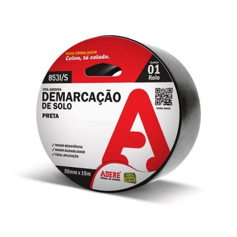Imagem de Fita Adesiva Demarcação de Solo Preta 50mm Adere