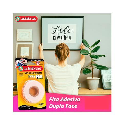 Imagem de Fita Adesiva Dupla Face Espuma Banana Pro Fixa Forte