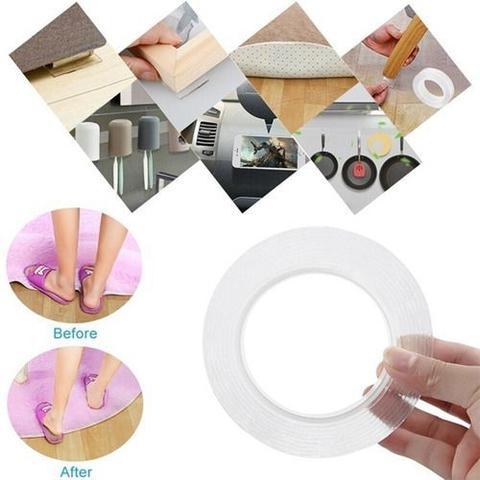 Imagem de Fita Adesiva Dupla Face Nano Pu Gel Transparente Impermeável