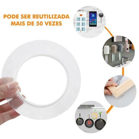 Imagem de Fita Adesiva Mágica Nano GEL Dupla Face Silicone Ultra Forte Transparente 3m