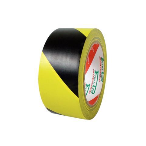Imagem de Fita adesiva p/ demarcação de solo zebrada 48mmx30m preta/amarela