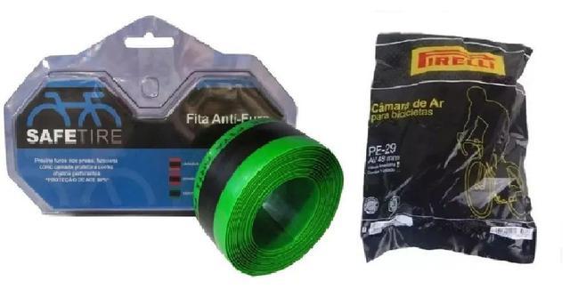 Imagem de Fita Anti Furo Pneu + 2 Câmaras Aro 29 27.5 26 Safetire 35mm