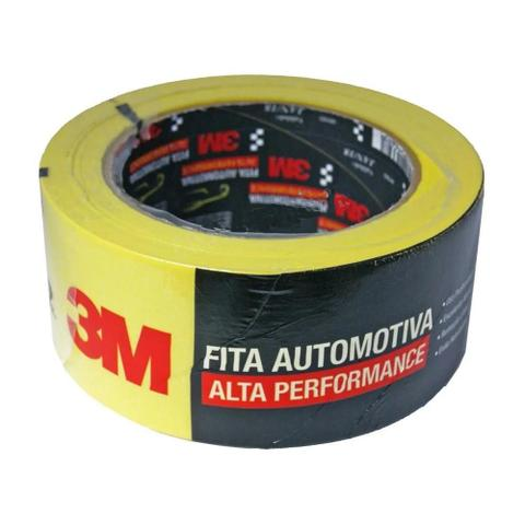 Imagem de Fita crepe 48mmx40m automotiva alta performace amarela 3m