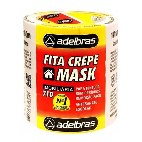 Imagem de Fita Crepe Mask 710 18mmx50m Adelbras