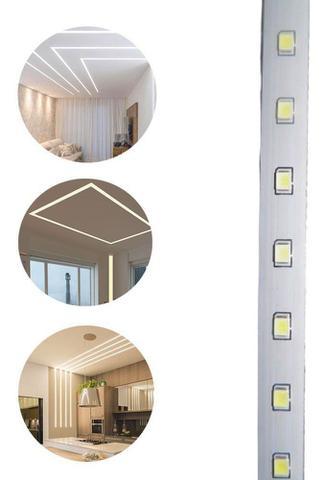 Imagem de Fita de LED Branco Frio Iluminaçao Decoraçao Sanca Plafon Teto Gesso Rebaixado Luz Casa Comercio