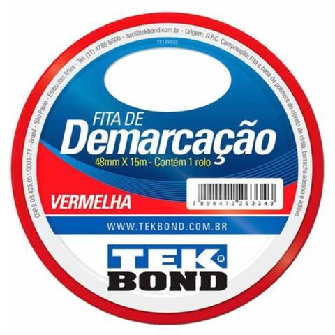 Imagem de Fita demarcacao solo 48mmx15m vermelha / rl / tek bond