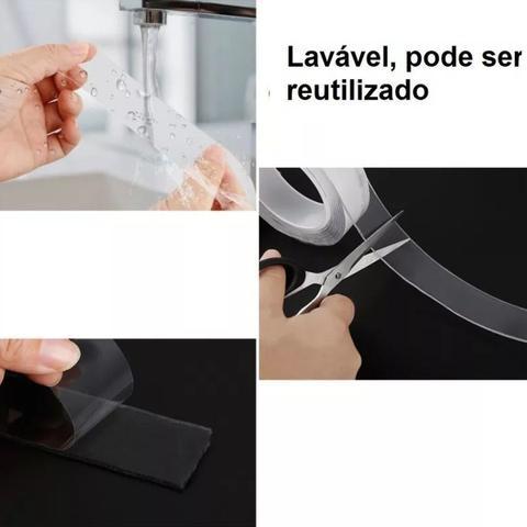 Imagem de Fita Dupla Face Transparente Forte Nano Mágica Lavável